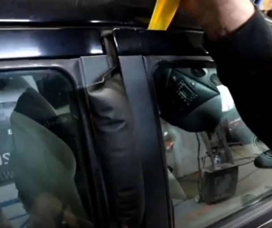 Unlocking a car with the key locked inside